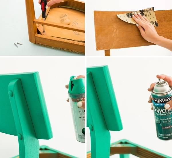 Реставрация мягкой мебели - обеденного стула пошагово