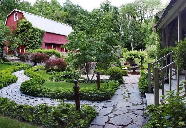 Ландшафтный дизайн загородного дома: планирование и фото участков