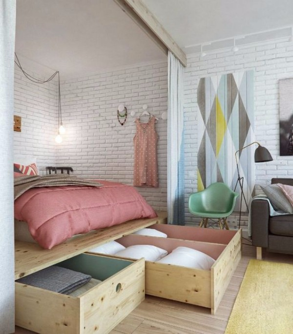 Дизайн однокомнатной квартиры - фото 5