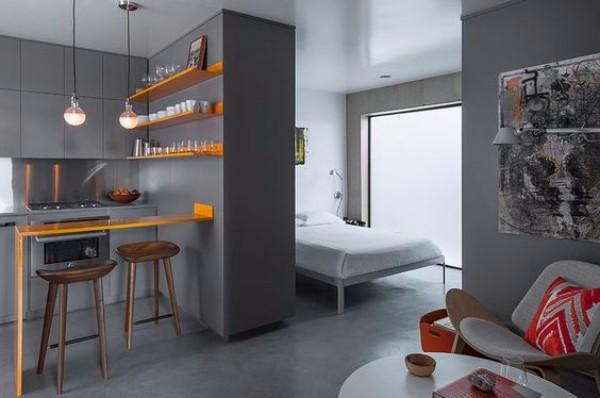 Стильный дизайн однокомантной квартиры - фото 3