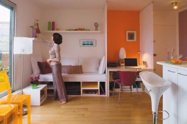 Пространство в современном дизайне однокомнатной квартиры