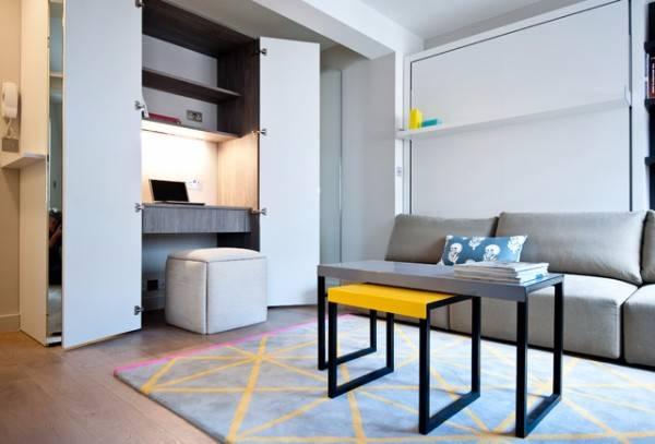Мебель в однокомнатном интерьере