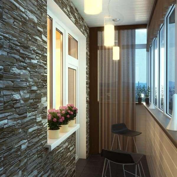 Дизайн панорамного балкона внутри