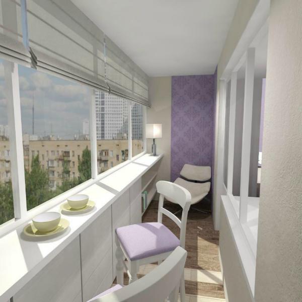 Дизайн балкона с барной стойкой - фото 2017 современные идеи