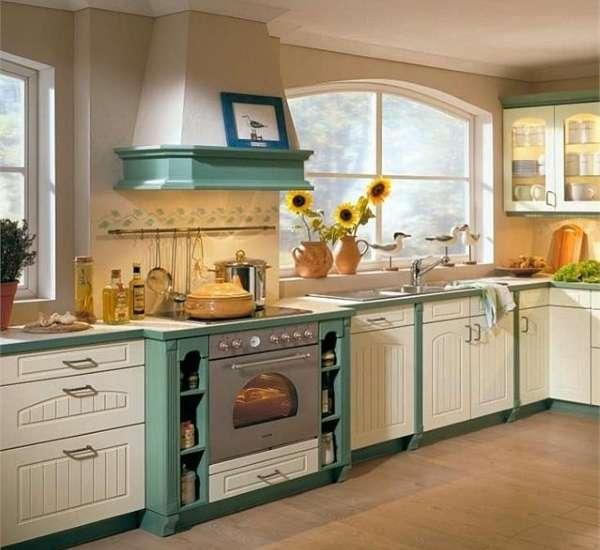 Интерьер кухни столовой в частном доме - фото дизайна прованс