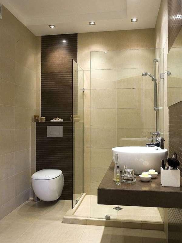 Стеклянные ограждения и двери для душа на фото ванных комнат
