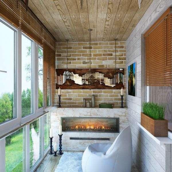 Необычные идеи отделки балкона внутри