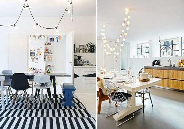 Идеи освещения для кухни столовой гостиной в частном доме