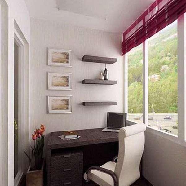 Оформление балкона - фото домашнего офиса