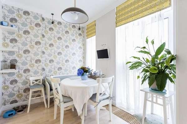 Интерьер кухни столовой в частном доме - фото планировки