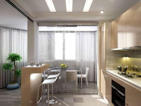 Современный интерьер столовой кухни в частном доме - идеи планировки