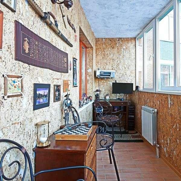 Узкие балконы - интересные идеи отделки на фото