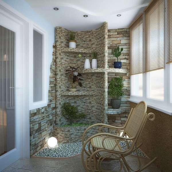 Шикарная отделка балкона - фото дизайн luxury
