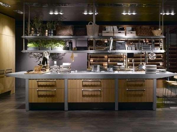 Дизайн интерьера кухни в частном доме - фото 2017