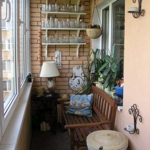Маленький балкон - дизайн фото в стиле лофт