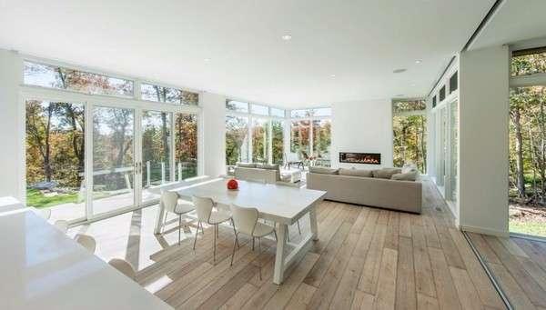 Скандинавский дизайн интерьера частного дома в современном стиле
