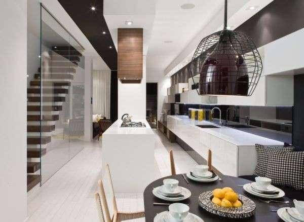 Современный дизайн интерьера частного дома - фото первого этажа