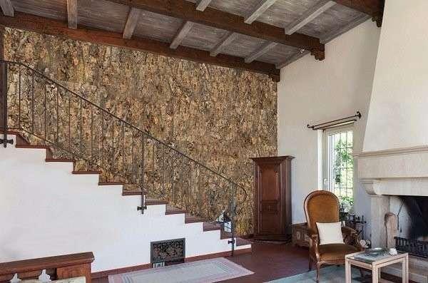 Пробка в интерьере частного дома в современном стиле
