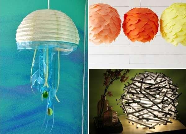 Как сделать светильник своими руками: 15+ идей и фото
