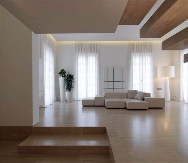Современный дизайн гостиной в частном или загородном доме