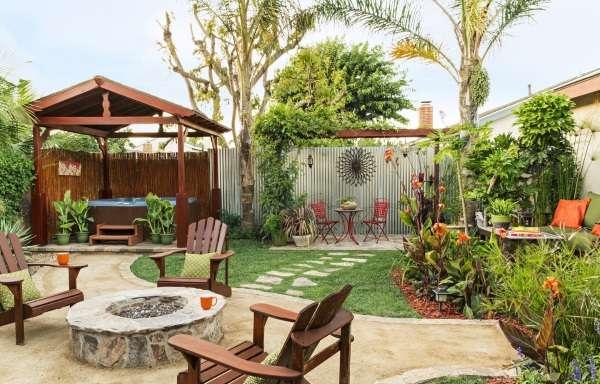 Планировка двора частного дома - фото красивого двора в современном стиле