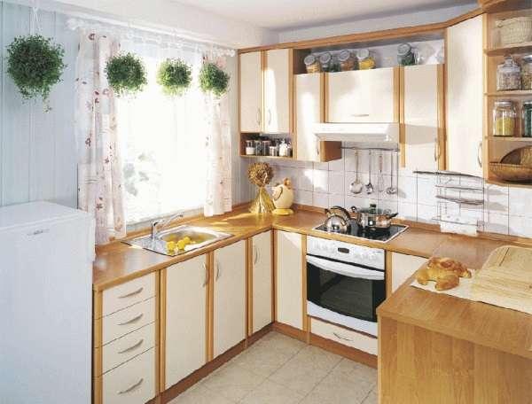 Дизайн маленькой угловой кухни в частном доме - подборка фото