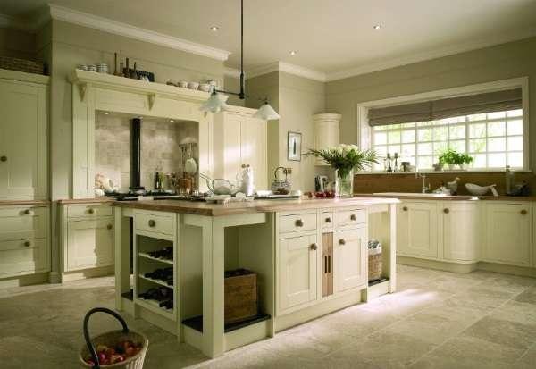 Дизайн угловой кухни в частном доме - фото с большим островом