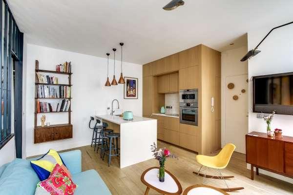 Дизайн кухни гостиной в интерьере однокомнатной квартиры