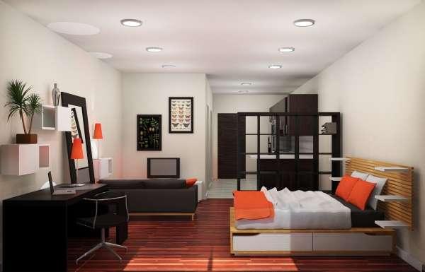 Дизайн интерьера квартиры 40 кв м - современная студия