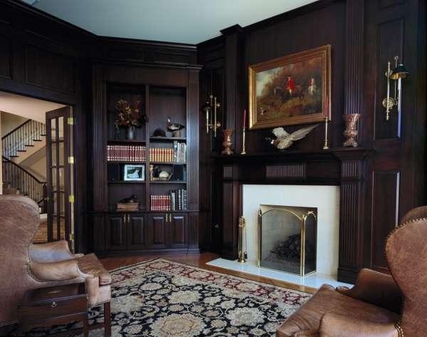 Дизайн интерьера гостиной загородного дома в стиле классика