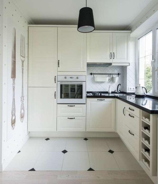 Маленькие квартиры студии - дизайн кухни на фото