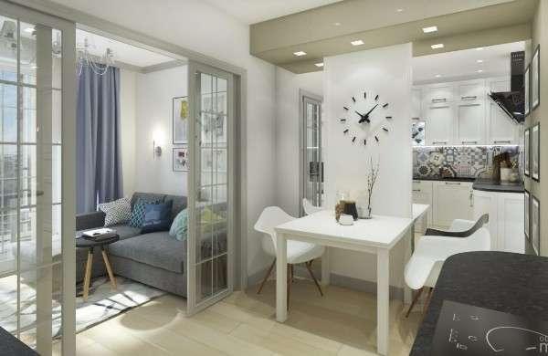 Интерьер дизайн маленькой квартир кухня студия фото 21