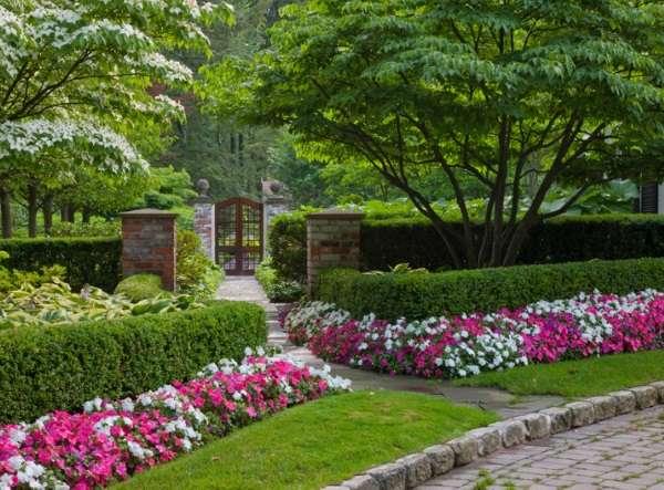 Цветы во дворе частного дома - лучшие современные идеи 2017