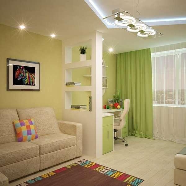Дизайн интерьера квартиры 40 кв м в ярких тонах