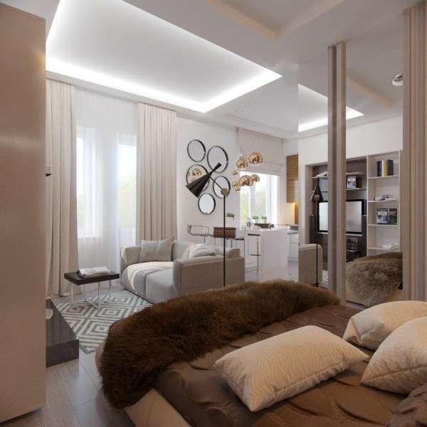 Шикарный однокомнатный интерьер квартиры