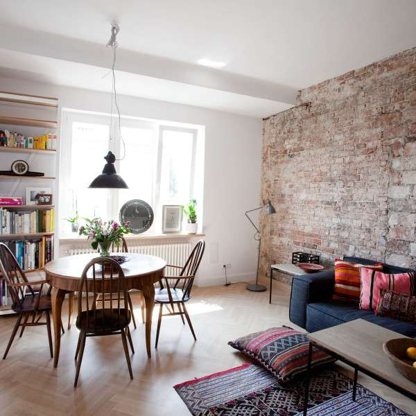 Интерьер однокомнатной квартиры - ТОП-60 фото дизайна 1