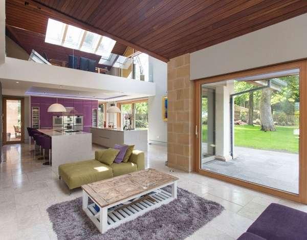 Внутренний дизайн загородного дома в стиле эко