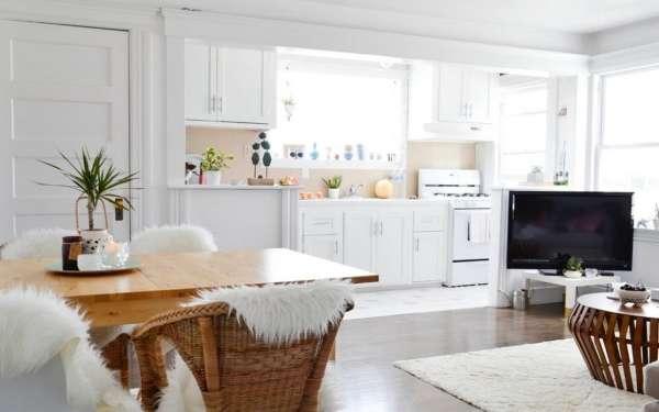 Дизайн кухни в частном доме своими руками - идея для совмещения с гостиной