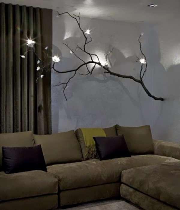 Как сделать светильник из ветки дерева своими руками