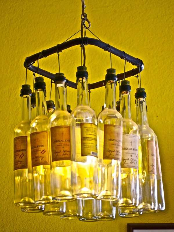 Как сделать светильник своими руками из стеклянных бутылок