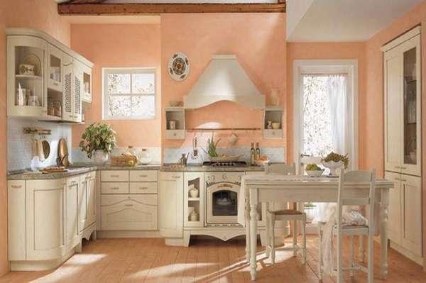 Внутренний дизайн частного дома - интерьер кухни столовой в классическом стиле