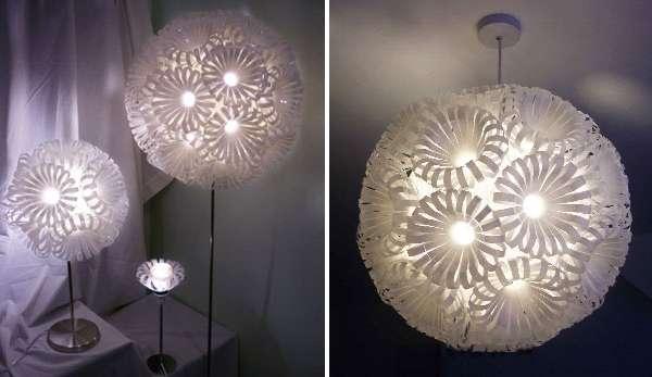 Стильные лампы своими руками из пластиковых бутылок