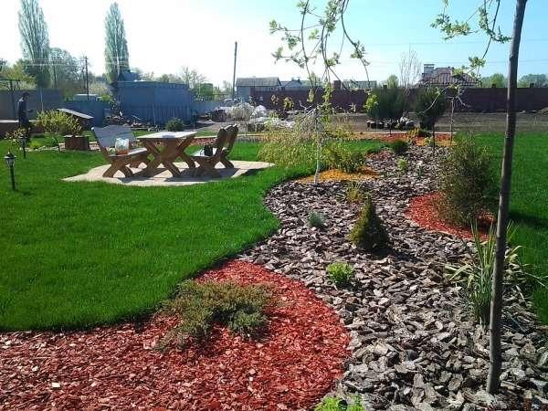 Красивый ландшафтный дизайн двора своими руками - фото планировки