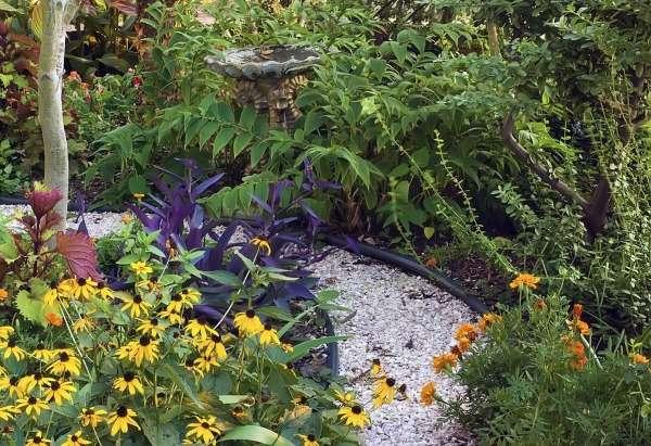 Ландшафтный дизайн двора своими руками - используем камень