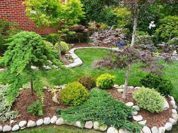 Ландшафтный дизайн частного дома своими руками - фото клумб и посадок