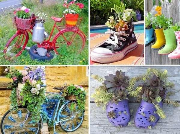 Идеи для дизайна двора частного дома - фото с цветами