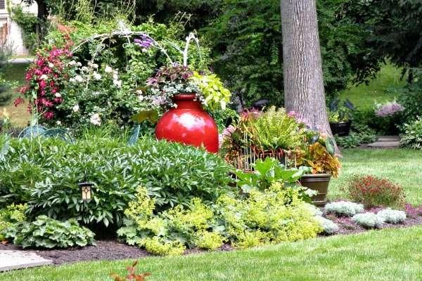 Ландшафтный дизайн двора - фото своими руками выполненные идеи