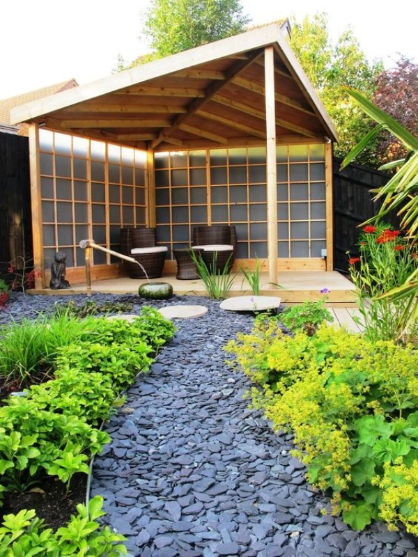 На фото 4: Ландшафтный дизайн двора