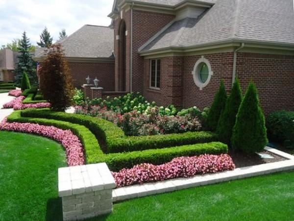 На фото 6: Ландшафтный дизайн двора