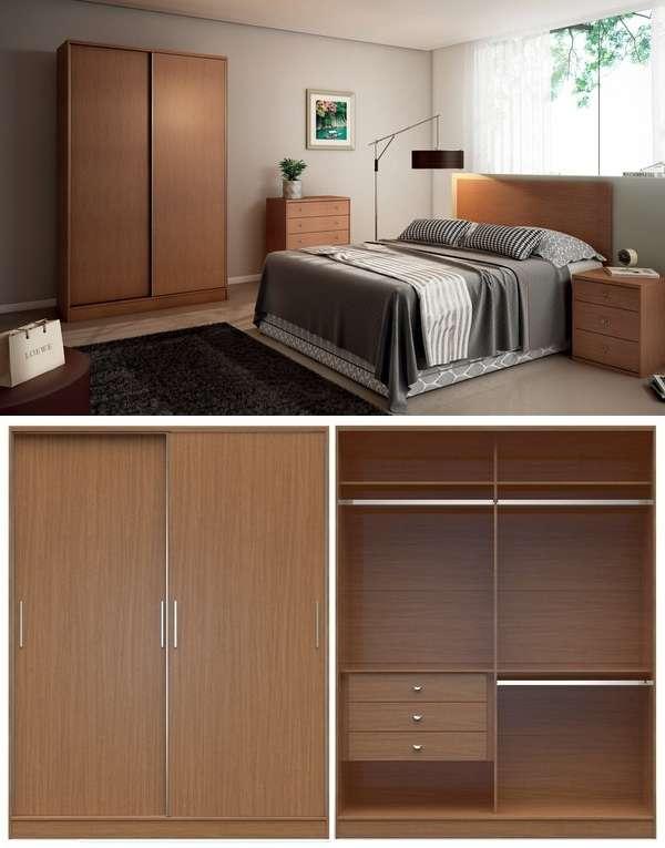 Спальня со шкафом купе - фото внутри и снаружи